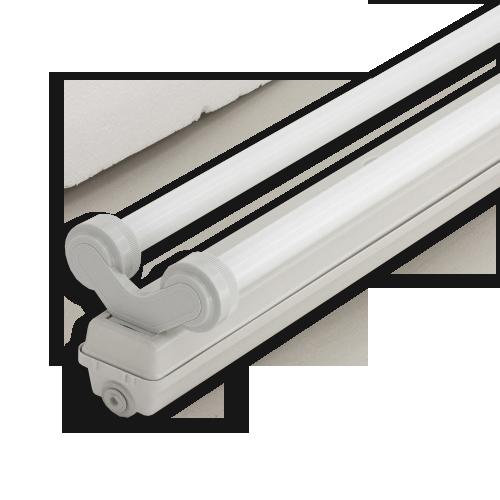 Корпус светильника Atom 760 218 2х600мм для светодиодных LED ламп T8 IP65 (Германия) герметичный промышленный