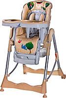Стульчик для кормления Magnus Fun - Caretero - Польша - под сиденьем широкая подвесная корзина Beige