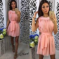 Женское летнее шифоновое мини платье