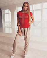 Брюки Doratti женские модные креп-коттон стрейч 3 цвета Bdor11