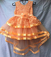 Платье шлейф  р.3-7 лет