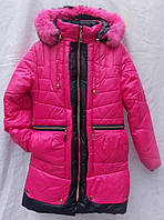 Пальто всесезон мех кролик для девочки