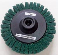Скотч-брайт круг шлифовальный лепестковый d125 мм Р240 зеленый