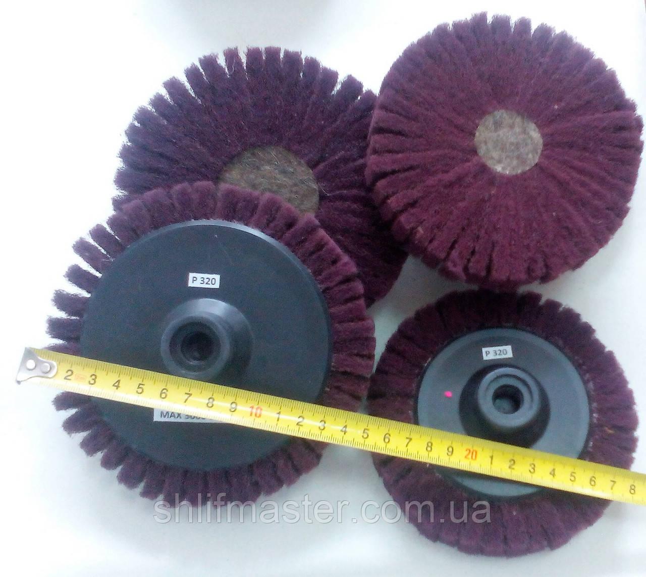 Шлифовальный круг скотч брайт лепестковый d125 мм Р320 бордо