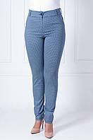 Женские летние брюки с геометрическим узором Биата синяя