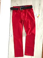 Красные штаны, брюки с ремнем на мальчика