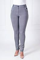 Женские летние брюки с геометрическим узором Биата серая