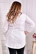 d42a893ab1b Блузка из льна для полных женщин 0541 молоко  520 грн. Купить в ...