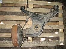 Задний левый рычаг + барабан + тормозной механизм б/у на VW T4 год 1990-2003