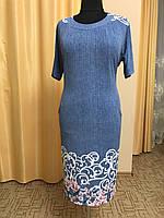 Платье женское с цветочным узором