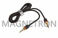 Удлинитель аудио кабеля AUX L=1200mm в оплетке для мобильных телефонов