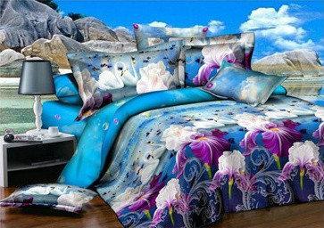 """Комплект постельного белья """"Ранфорс"""" семейный размер"""