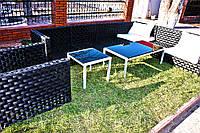 Комплект садовой мебели из ротанга (кофейный столик, кресло, диванчики)
