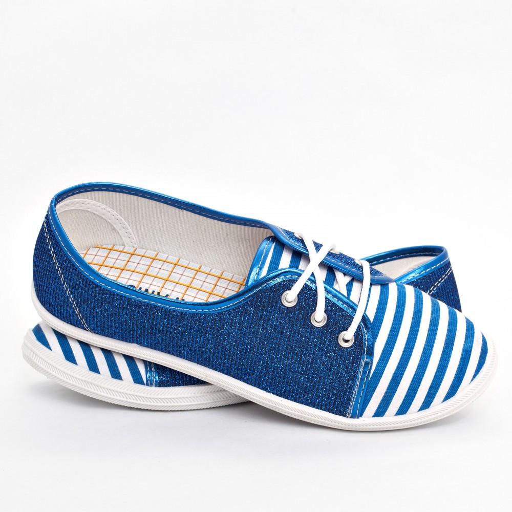 Женские мокасины синие (Код: BS-516)