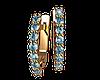Золотые серьги Небесный гребень