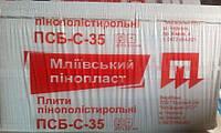 Пенопласт ПСБС-35 (1000х1000х80)мм.  7шт/уп.