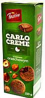 Печенье с шоколадно - ореховой начинкой Tastino Carlo creme z kremem orzechowym 150 g.