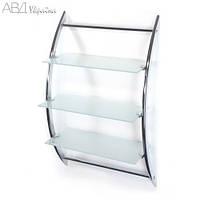 Полка настенная 3 ярусная матовое стекло AWD02050026