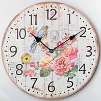 Часы настенные Розовый Сад