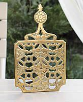 Антикварная декоративная подставка, декор, бронза, Англия