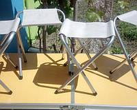 Набор  аллюминиевый для пикника стол чемодан 4стула-8812F