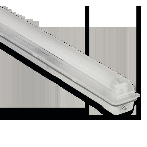 Светильник Atom 741 136 1х1200мм для LED ламп T8 IP65, КОРПУС БЕЗ ЛАМП (ГЕРМАНИЯ)