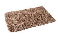 Коврик для ванной комнаты из микрофибры 50*70 коричневый AWD02160946