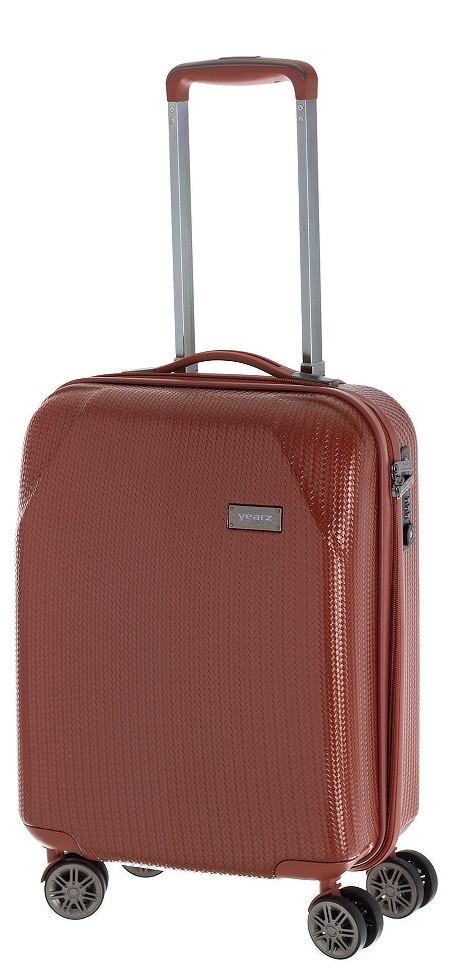 Оригинальный пластиковый малый 4-колесный чемодан 40 л. MARCH Jersey Y4543/10, оранжевый