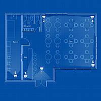 IP видеонаблюдение 6 камер (2Мп) для соц. инфраструктуры