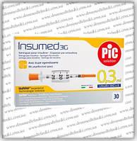 Шприц для інсуліну Insumed U-100 0,3 мл*8мм (30 шт.)
