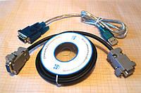 Переходник RS232 COM-порт на USB + Нуль модемный кабель