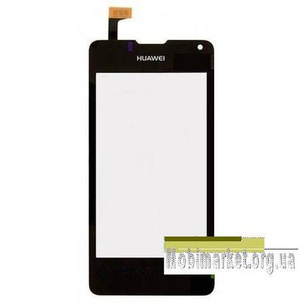 Сенсор (тачскрін) для Huawei Ascend Y300D, U8833 Ascend Y300 чорний, фото 2