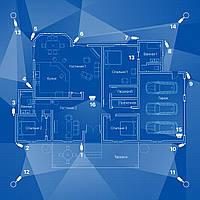 IP видеонаблюдение 16 камер (2Мп) для частного дома