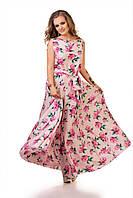 """Стильное молодежное платье в пол для пышных дам """" Цветы """" Dress Code"""