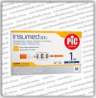 Шприц для инсулина Insumed U-100 1мл*8мм (30 шт.)