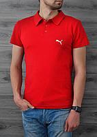 Поло, футболка мужская, супер качество Puma красный