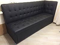Кухонная мягкая мебель со спальным местом (Черный)