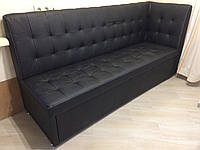 Кухонная мягкая мебель со спальным местом (Черный), фото 1
