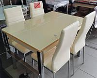 Стол ТВ017 кремовый 1100(+2вставки по 30)х750мм раскладной