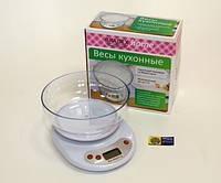 Весы кухонные + чаша (вес до 5-ти кг.)