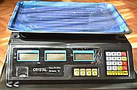 Crystal весы торговые 40 кг электронные со счетчиком цены, фото 1