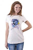Молодежная женская футболка с принтом 013-00035-003