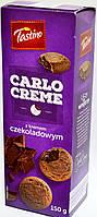 Печенье с шоколадно - кремовой начинкой Tastino Carlo creme z kremem o smaku czekoladowym 150 g.