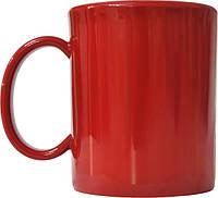 Чашка из поликарбоната Красная  под нанесения логотипа, чашка с логотипом