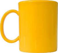Чашка из поликарбоната Желтая  под нанесения логотипа, чашка с логотипом