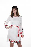 Плаття з вишивкою Чарівні Маки на льоні