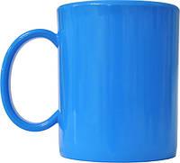 Чашка из поликарбоната Голубая  под нанесения логотипа, чашка с логотипом