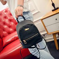 Городской женский мини-рюкзак черый