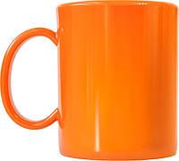 Чашка из поликарбоната Оранжевая  под нанесения логотипа, чашка с логотипом