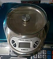Весы кухонные со стекляной платформой, нержавеющая сталь